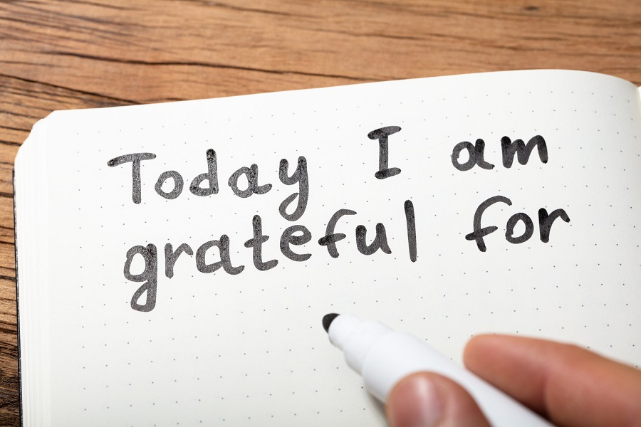 Today I Am Grateful For Text On Notebook